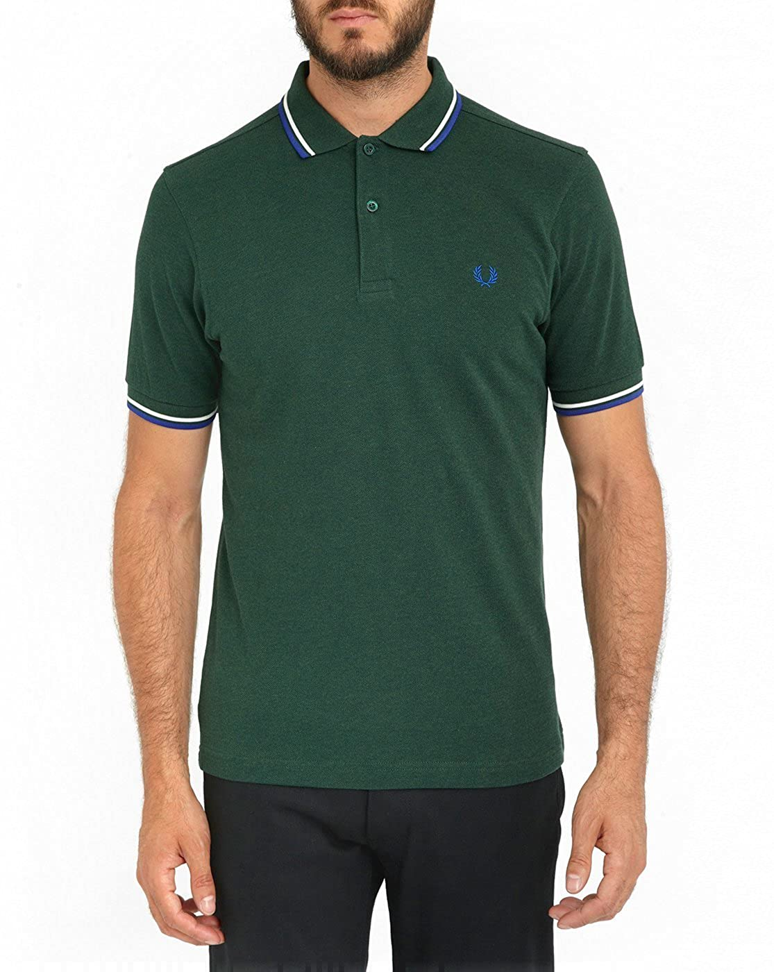 Fred Perry Authentics Slim Fit Twin Tipped Polo IVY XL: Amazon.es ...