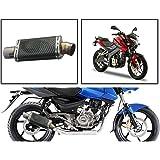 Vheelocityin 84034 Short Carbon Motorcycle Exhaust for Bajaj Pulsar 200NS