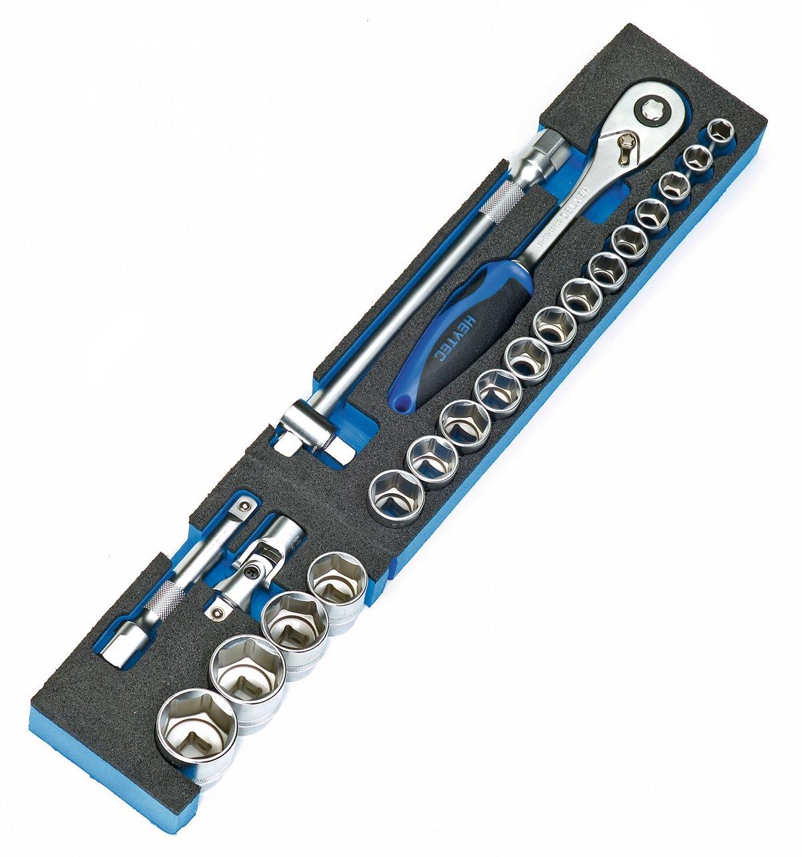 Heyco//Heytec 50807694500 Montage-Werkzeugkasten 5 Modulen Stahlblech 5-fach aufklappbar inklusive 96-teiligem Werkzeugsortiment