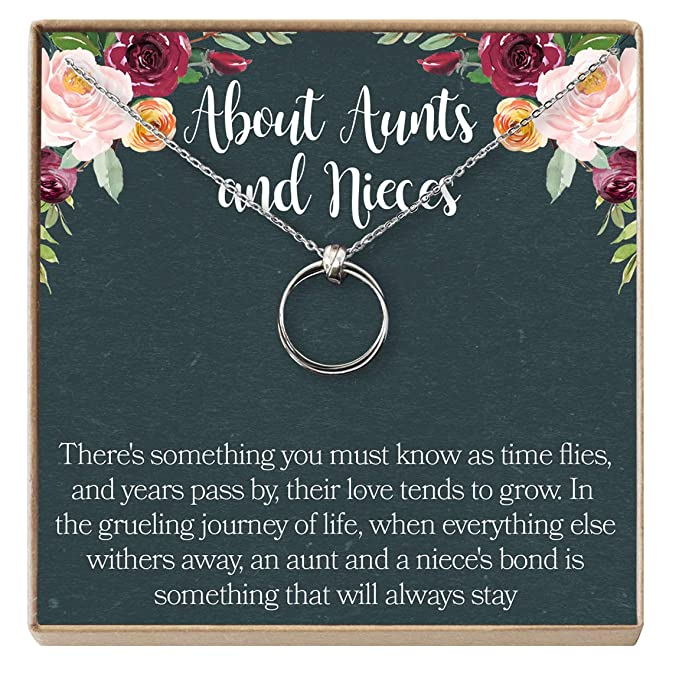 Aunt-Niece Necklace: Aunt-Niece Gift, Aunt-Niece Jewelry, Aunt-Niece  Quotes, Aunt Necklace, 2 Linked Circles