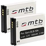 2 Batteries SLB-10A pour Samsung ES50, ES55... / JVC Adixxion / Toshiba X-Sports / Silvercrest... (voir liste)