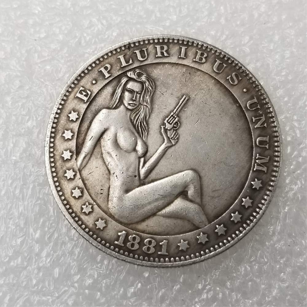 NiuChong Best Morgan Silver Dollar Coins - 1881 Hobo Nickel Coin -Old Coin  Collecting-Silver Dollar USA Old Morgan Dollar -Plated Silver Coins Love it