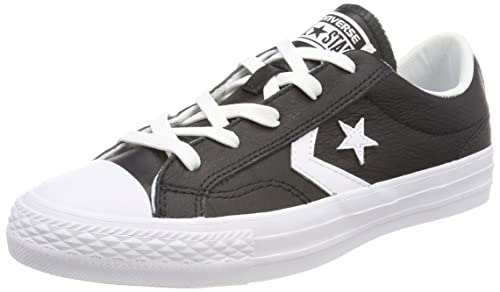 Converse Lifestyle Star Player Ox, Zapatillas Unisex Niño, Negro (Black/White/White 083), 35 EU