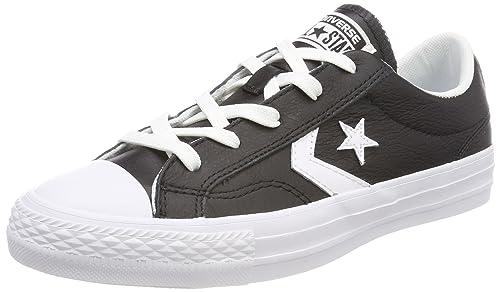 Converse Star Player Ox, Scarpe da Ginnastica Basse Unisex - Adulto, Nero (Black/White/White 083), 39.5 EU