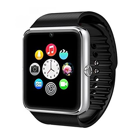 Generic Gt08 Bluetooth 3.0 Smart Watch with Camera Sim for Samsung Sony Android Phone Black