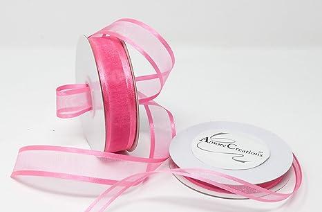 Homeford FCR000SES0308175 Satin-Edge Sheer Organza Ribbon 3//8-Inch Hot Pink