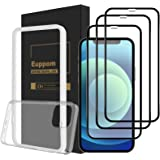 """【Gifted iPhone Case · Easy Align Tray 】 Euppom Screen Protector, for iPhone 12 Pro Max (6.7"""") 3-Pack, Tempered Glass Screen P"""
