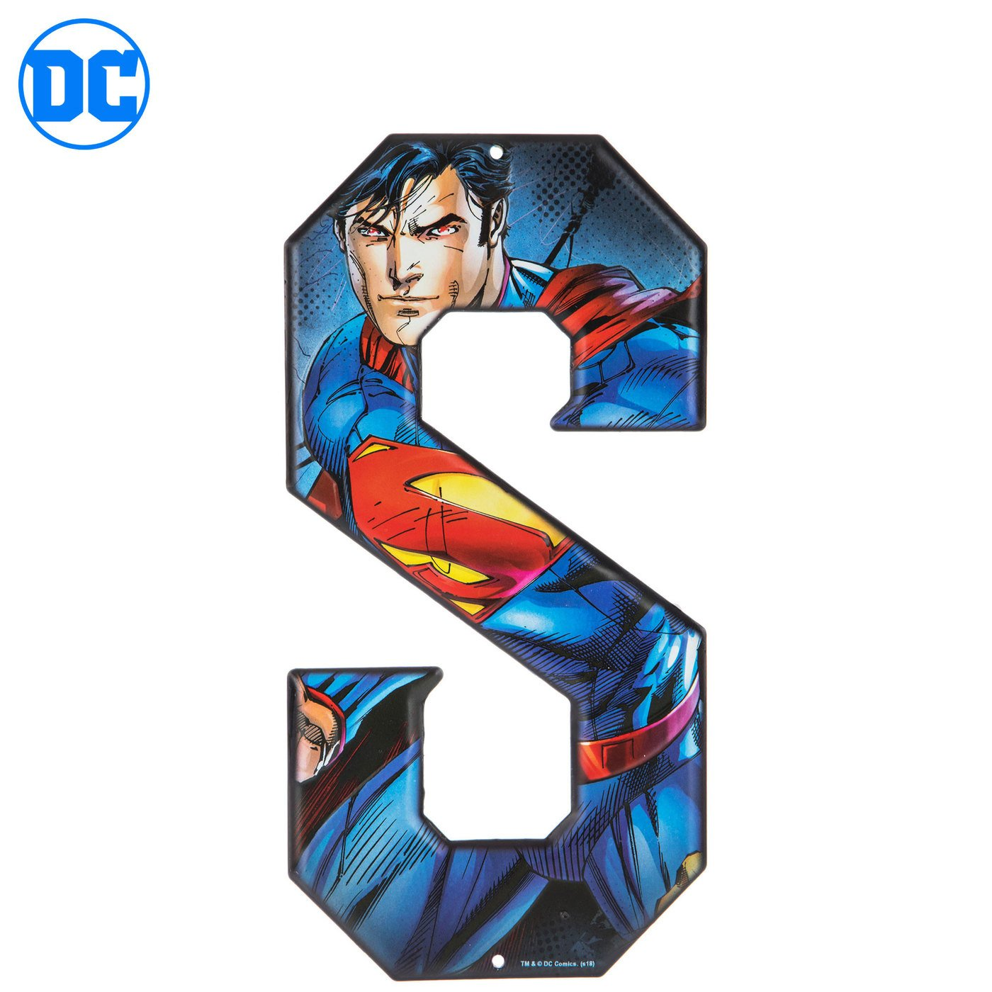 Superhero Letter Metal Wall Decor Marvel and DC Comic Letters (S)