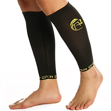 64c163874b CFR Copper Compression Recovery Calf Sleeve Shin Splint Leg Support Sleeves  for Running Cycling Travelling Muscles