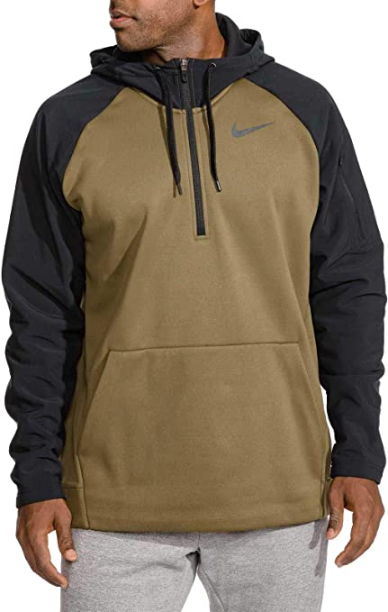 fd0a99779ac7 NIKE Men s Therma Utility Fleece 1 4 Zip Pullover (Olive Canvas Black
