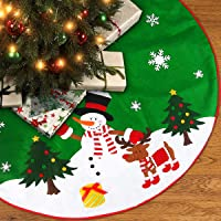 Base de árbol de Navidad verde con diseño