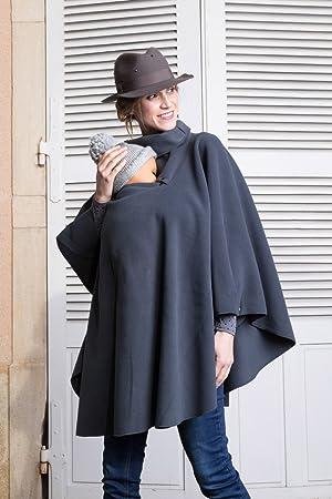 aabd9bff6df Poncho de grossesse et de portage - gris  Amazon.fr  Bébés ...