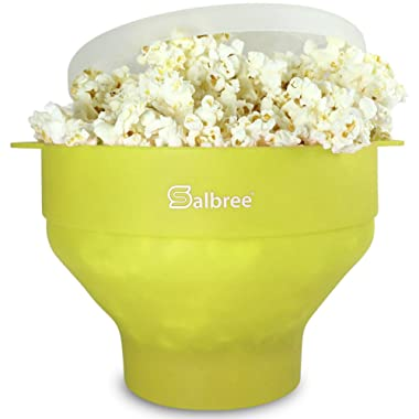 Original Salbree Microwave Popcorn Popper, Silicone Popcorn Maker, Collapsible Bowl BPA Free - 15 Colors Available (Lime) …