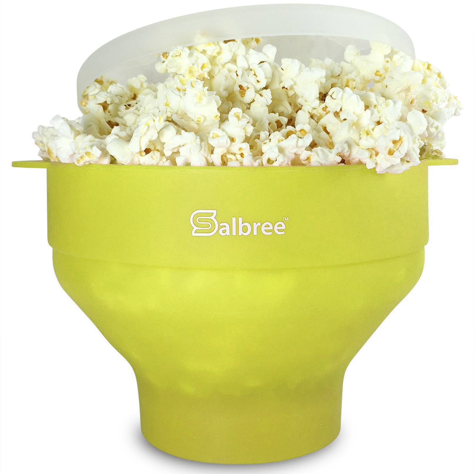 The Original Salbree Microwave Popcorn Popper, Silicone Popcorn Maker, Collapsible Bowl BPA Free (Lime)