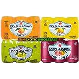 Sanpellegrino Mix 330ml x 24 - 6 Aranciata, 6 Limonata, 6 Aranciata Rossa, 6 Pompelmo. Sun Exotic Wholesale Mix