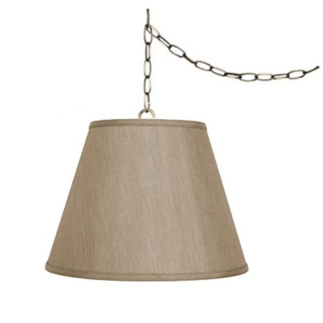 Upgradelights Tan 16 Swag Lamp Lighting Fixture Hanging Plug In