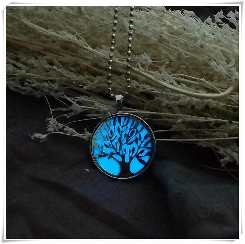 Vida árbol luminoso collar