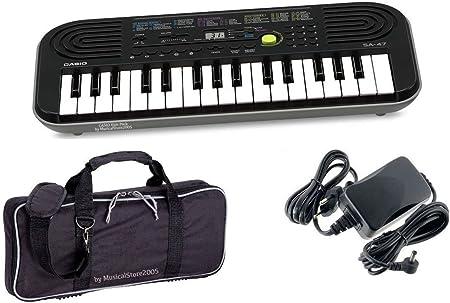 Casio Starter Pack sa47 teclado/bolso/Cargador Bundle: Amazon ...