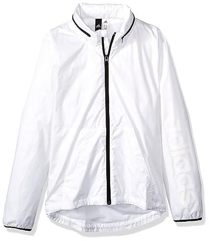 2facc1fd7b1 Amazon.com   adidas Women s Linear Windbreaker Jacket   Sports ...