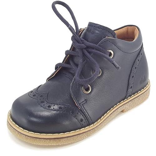 Froddo Zapatos de Cordones de Piel Para Niño, Color Azul, Talla 27