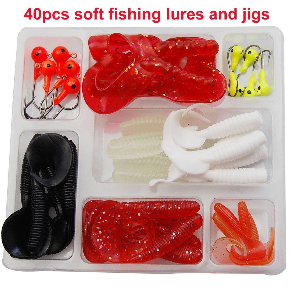 Amazon.com : Shaddock Fishing 47-110 Piece Fishing Lures Tackle Kit ...