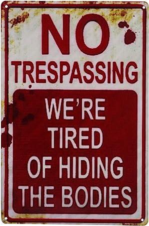 funny halloween no trespassing sign