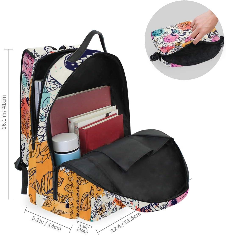 ALLMILL Pattern Skull Queen School Backpack
