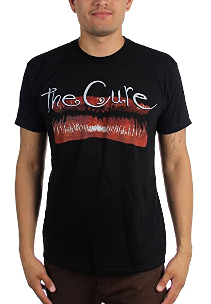 The Cure - Hombres de Kiss Me, Kiss Me, Kiss Me Labios de la camiseta de la vendimia, X-Large, Black: Amazon.es: Ropa y accesorios