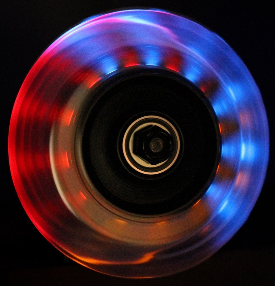 SCSK8 Light Up Scooter Replacement Wheels - 3 Multi Color LED's 100mm (Pack of 2)