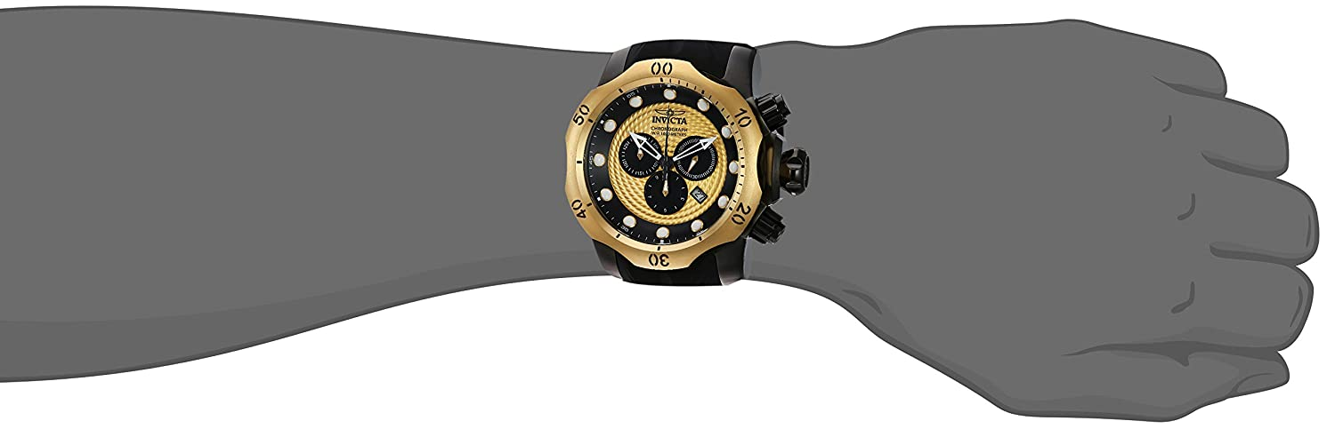 Invicta Men s Venom Stainless Steel Swiss-Quartz Watch with Silicone Strap, Black, 31 Model 20444