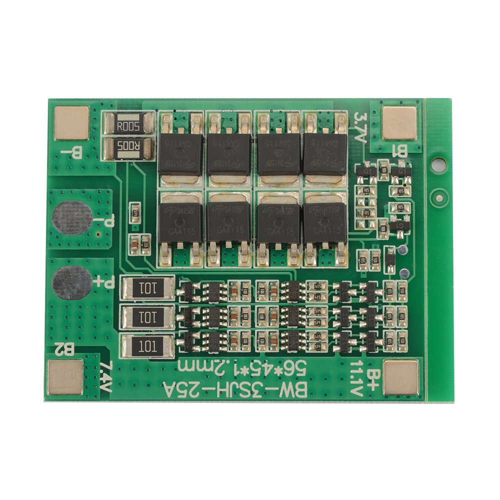 WSDMAVIS 1 Pcs 18650 Li-ion Lithium Battery Protection Board 3S 25A 12.6V//4S 16.8V//5S 21V BMS Charging Module PCM Polymer Lipo Cell PCB Anti-Overcharge//Over-Discharge