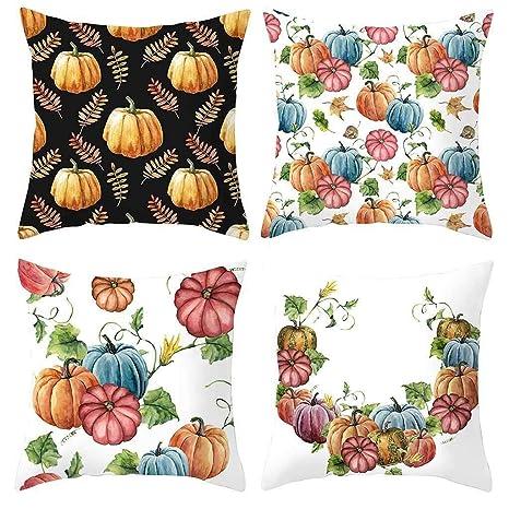 Amazon.com: Fauean Happy Halloween - Juego de cojines para ...