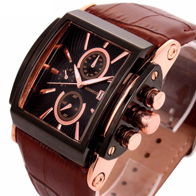 Amazon.com: Relojes de Hombre Cronógrafo De Cuarzo De Moda Para Caballero Movimiento Suizo Caja de Acero Inoxidable 2018 Nueva Colección RE0084: Watches