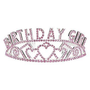 Amazon.com: Rhinestone Cumpleaños Tiara – Diadema para las ...