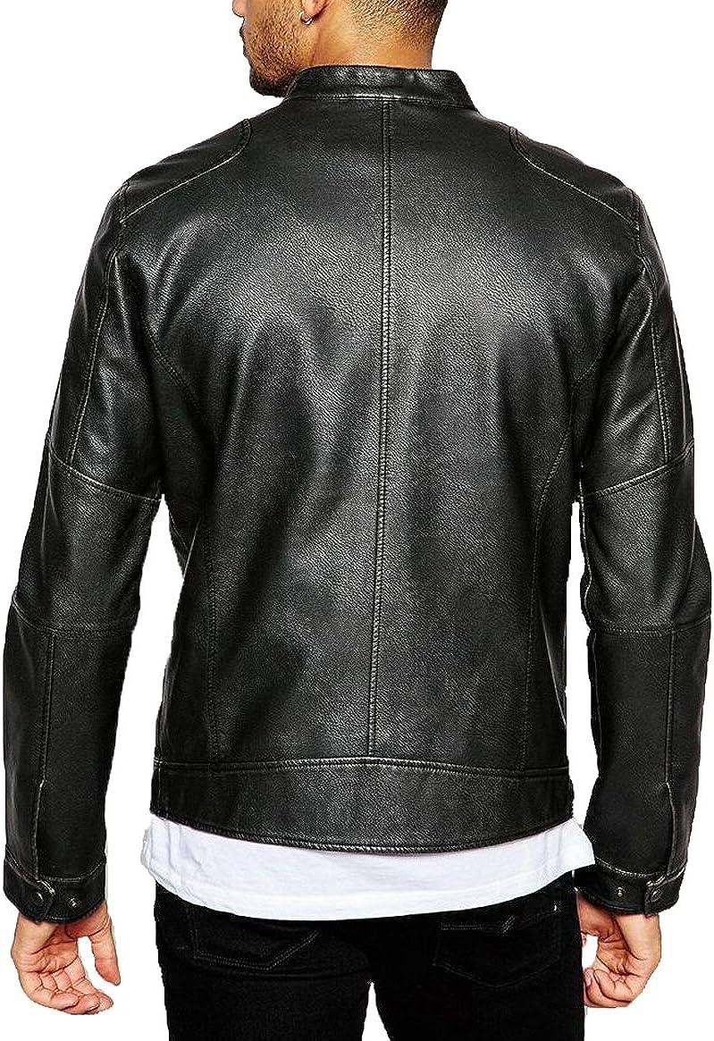 New Genuine Cow Leather Designer Jacket Motorcycle Biker Mens S M L XL LFC947