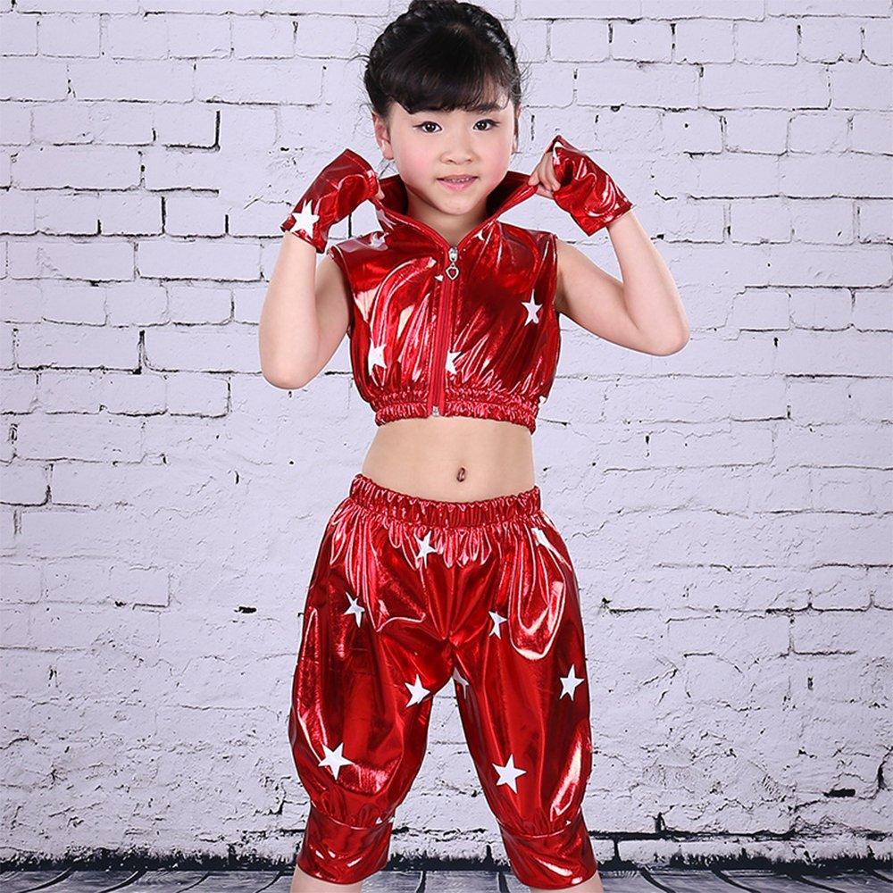 4f4d1c315210 Amazon.com  KINDOYO Kids Girls Boys Stars Jazz Dance Costumes Stage ...