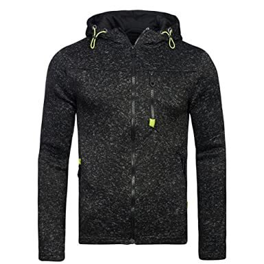 Bleuzee Winter Hoodies Sweatshirt Polka Dot Print Zipper Mens Hoody Sweatshirt Brand Casual Sudaderas Hombre black