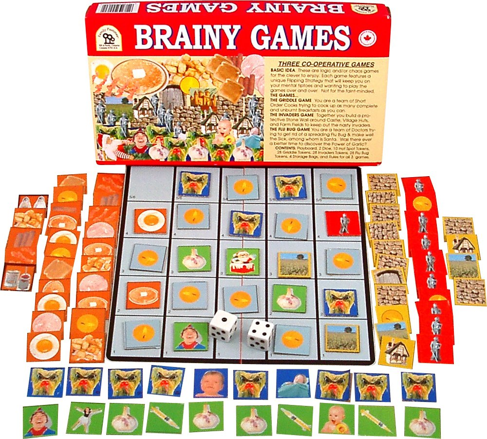 Family Pastimes Brainy Games - A 3-in-1 Co-operative Game by Family Pastimes