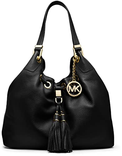 Amazon.com: Michael Kors Large Camden Drawstring Leather Shoulder ...