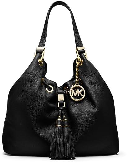 a623a2090966 ... purchase michael kors large camden drawstring leather shoulder bag  black bab82 a2487