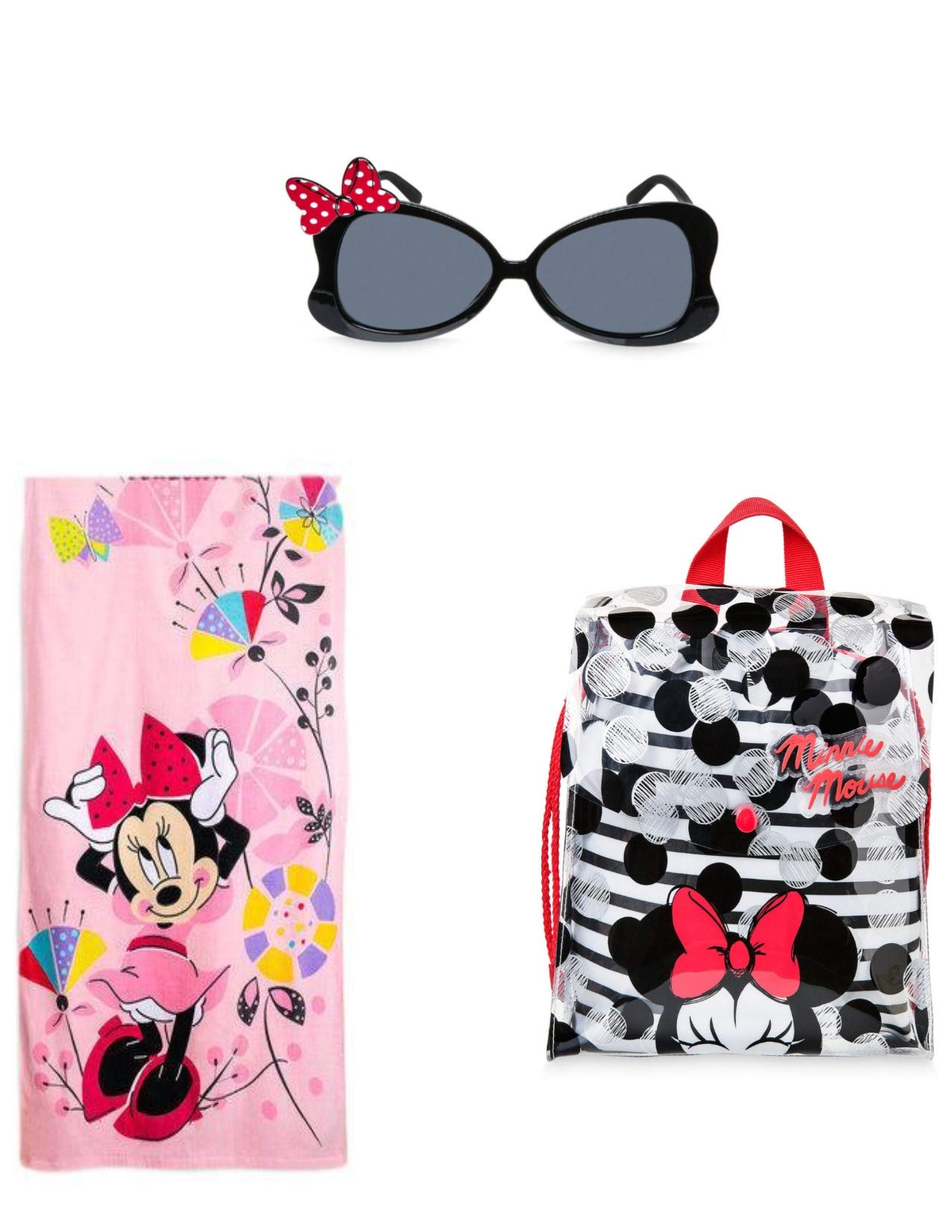 Minnie Beach Towel Swim Bag and Sunglass Set Little Girls Tote