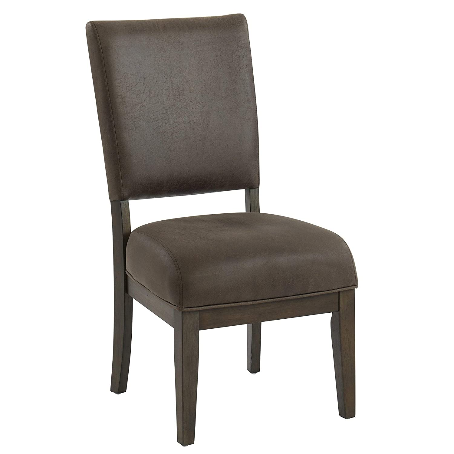 Phenomenal Amazon Com Overstock Solid Wood Faux Leather Side Chair Beatyapartments Chair Design Images Beatyapartmentscom
