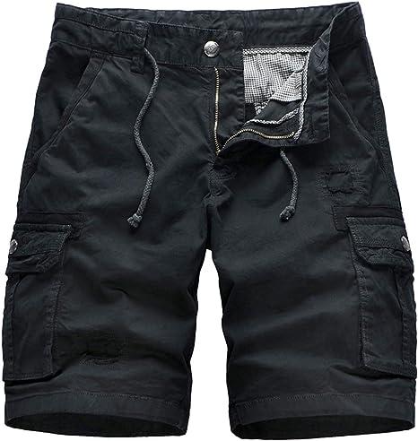Pantalones Cortos para Hombre Rectos De Algodón Peinado ...