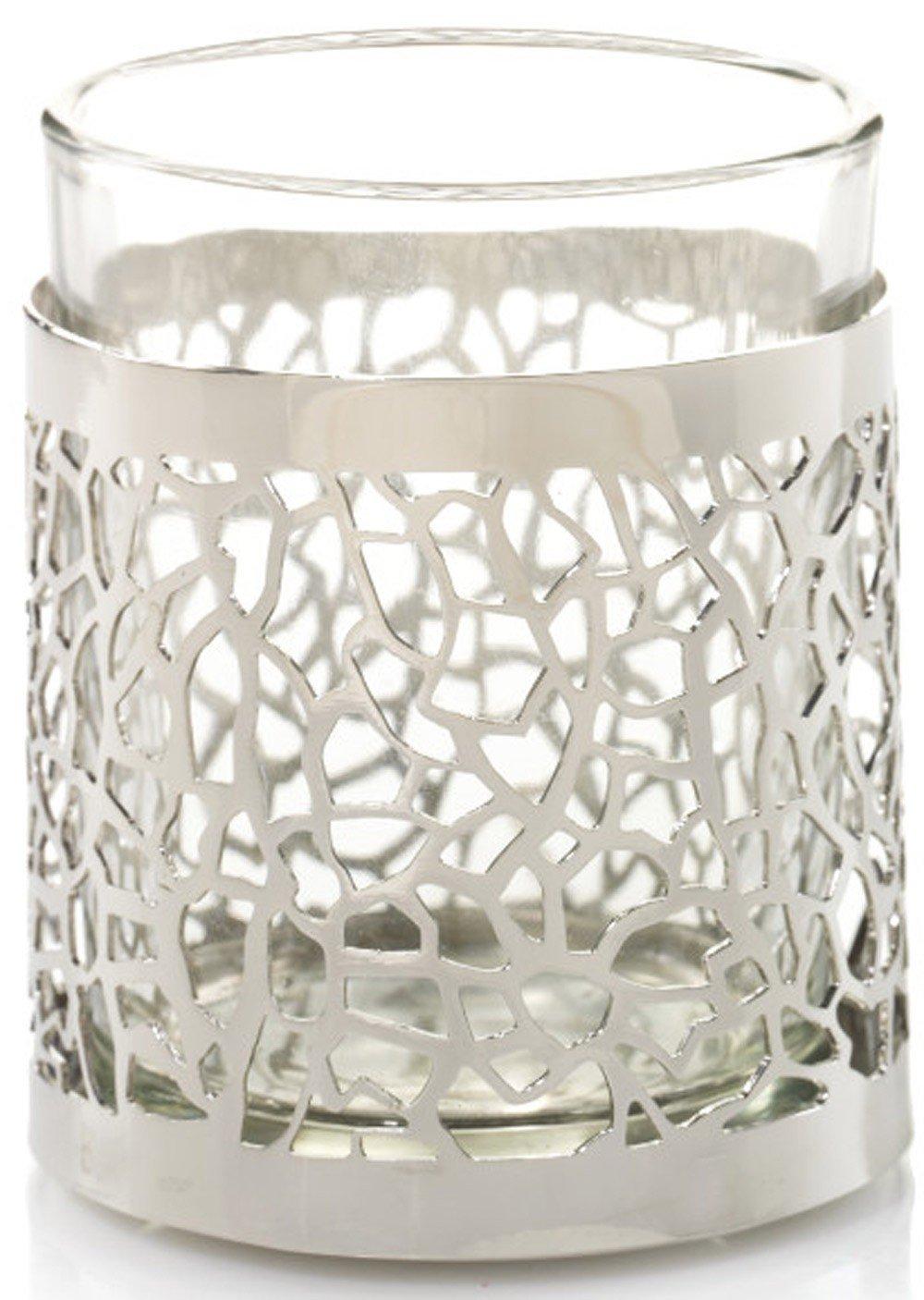Yankee Candle-Porta candela, motivo: Matrix in argento spazzolato Yankee Candle Europe 1507953
