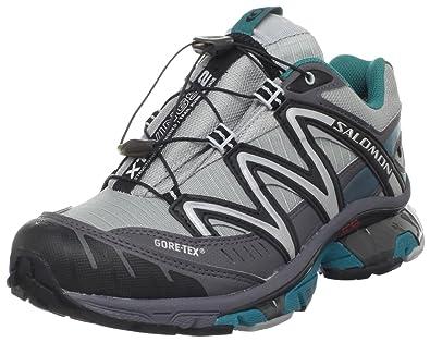 Salomon Womens XT Wings 2 GTX Trail Running Shoe,Light Onix/Dark Cloud/