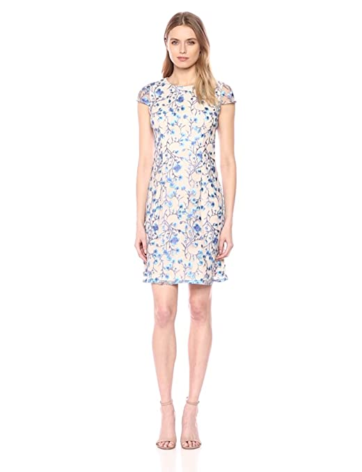 ad9fb5fcde Adrianna Papell Women's Floral Vines A-line Dress at Amazon Women's Clothing  store: