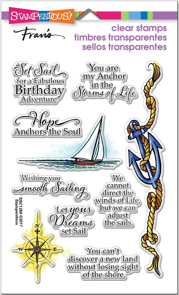 Stampendous Clear Stamp Set Nautical Anchor