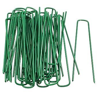 FiNeWaY - Juego de 50 pines en forma de U para césped artificial de césped de