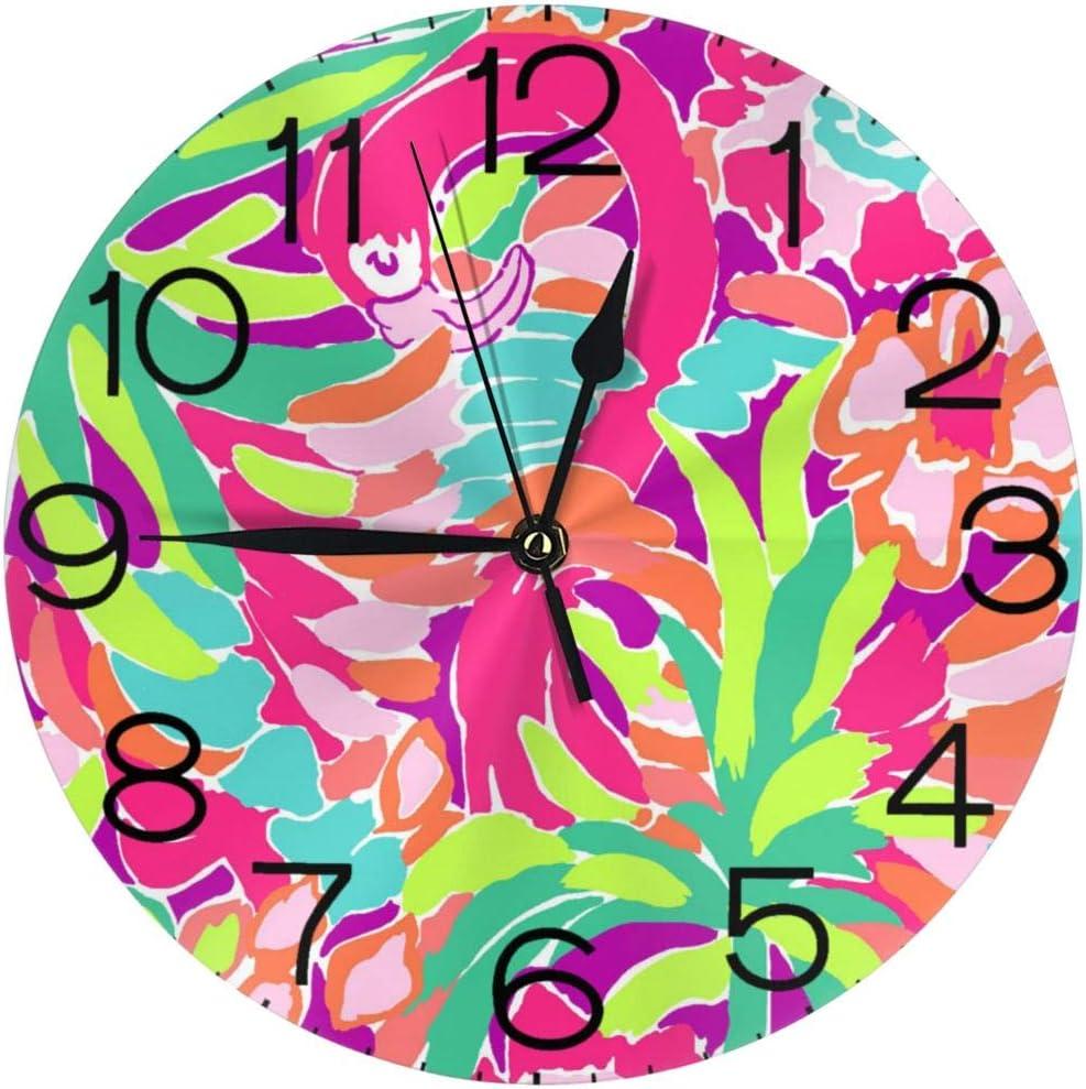 Lilly Pulitzer Cyber Monday reloj de pared redondo reloj elegante pintura al óleo reloj digital Muto