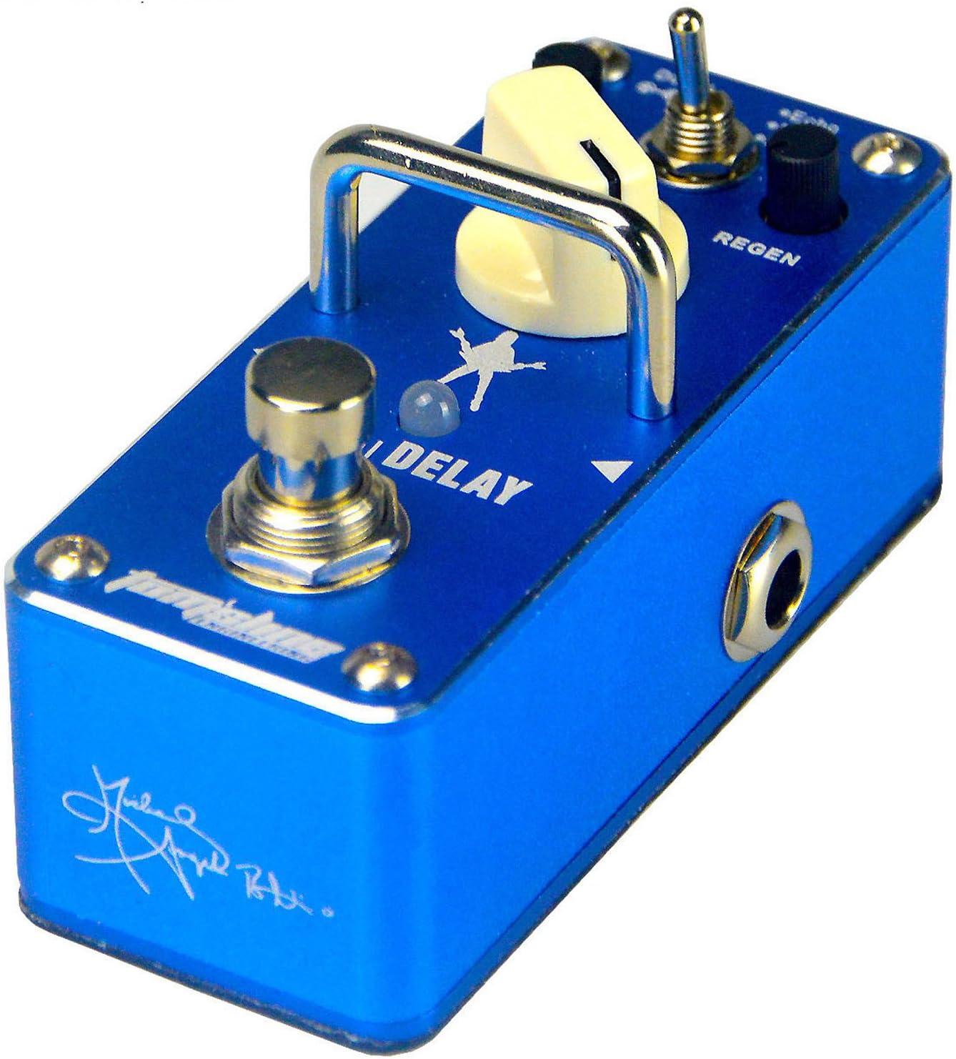Michael Angelo Batio Signature, pedal de efecto para guitarra, azul